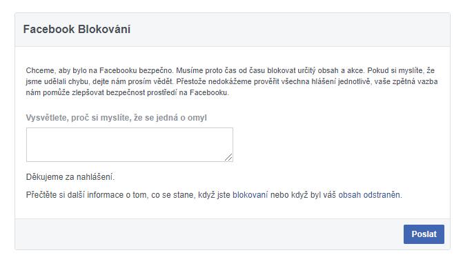 Formulář Facebook Blocks